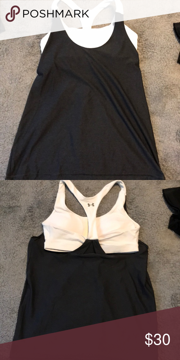 927c1f2e8fd93 Under armour workout top Tank top with built in bra Under Armour Tops Tank  Tops