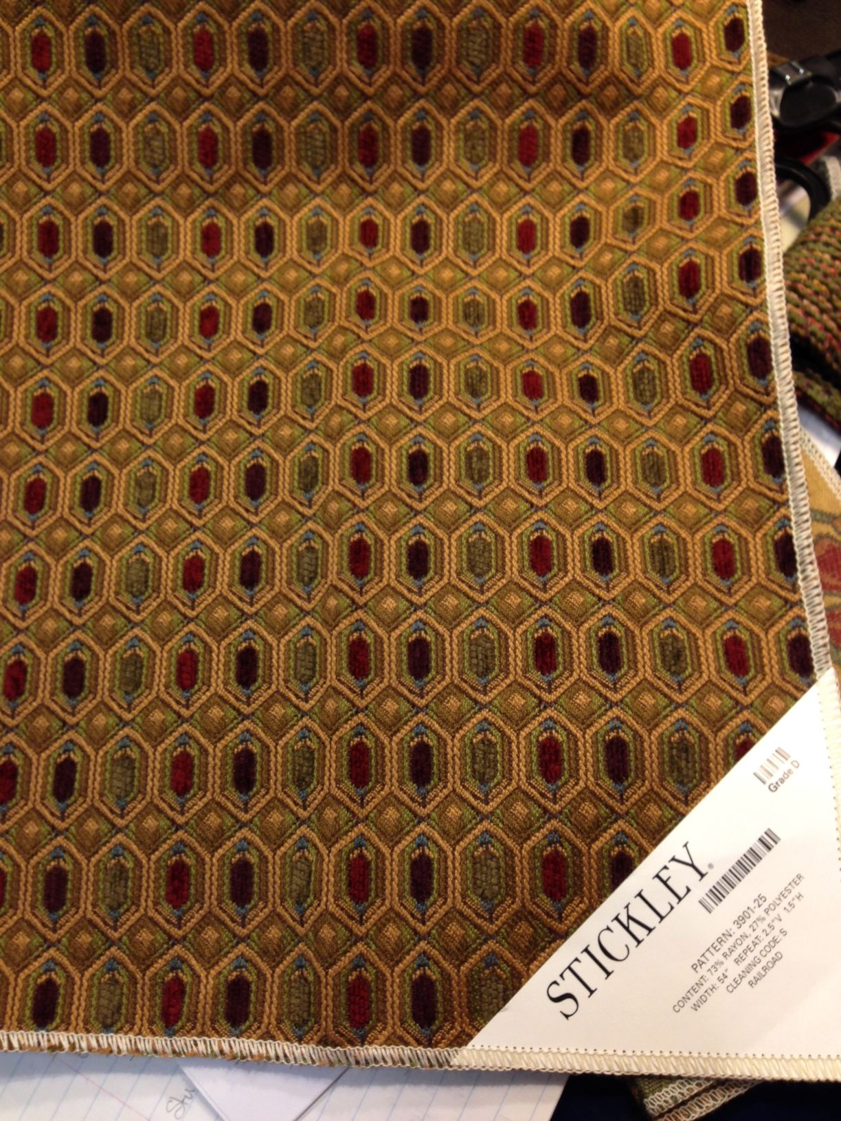 Stickley Stained Gl 72 Per Yard