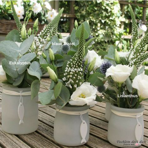 Blumendeko Kommunionsfeier - Tischlein deck dich