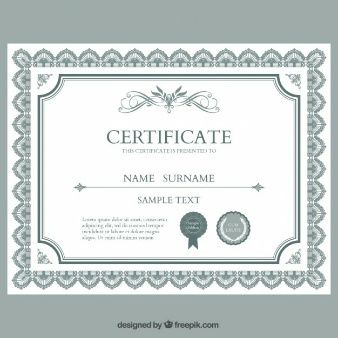 Certificate template babu pinterest certificate and template 10 sets of free certificate design templates yadclub Images