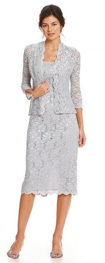 The Evenings Of Scalloped Wedding Jacket Alex Lace DressMother PwymnvN80O