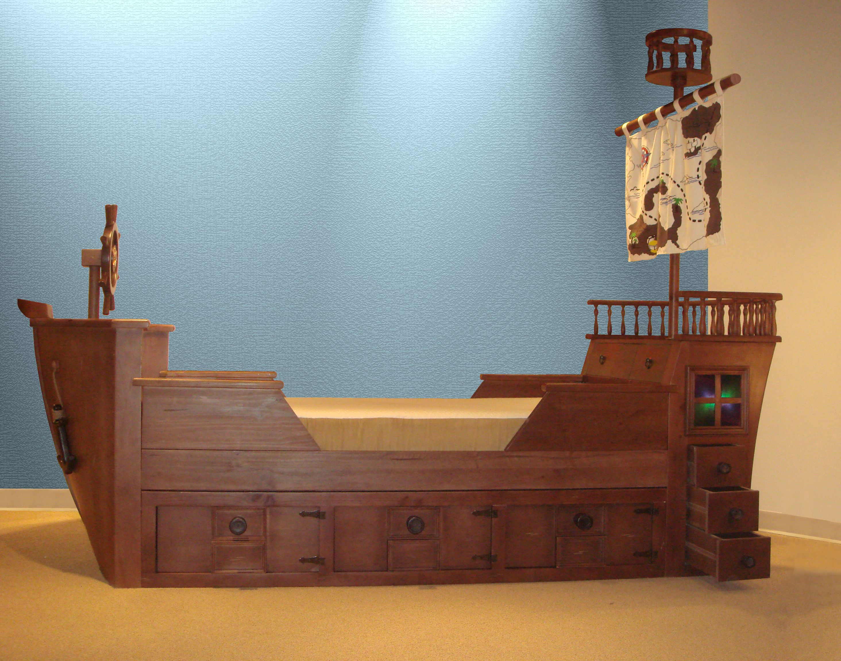 How Much To Ship Furniture Plans Pirate Ship Beds  My Captain's Pirate Ship Bed  Pinterest .