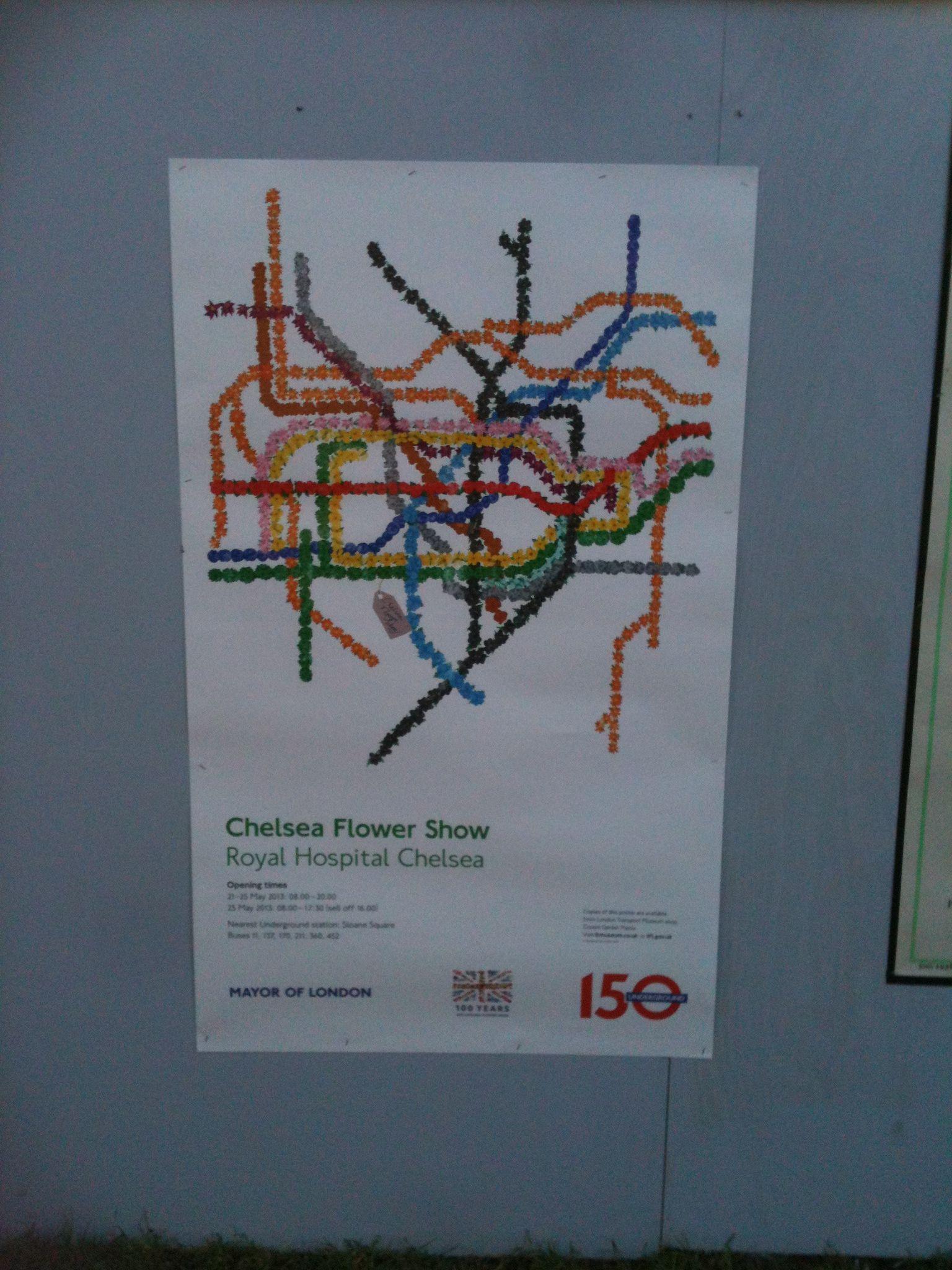 Chelsea flower show poster