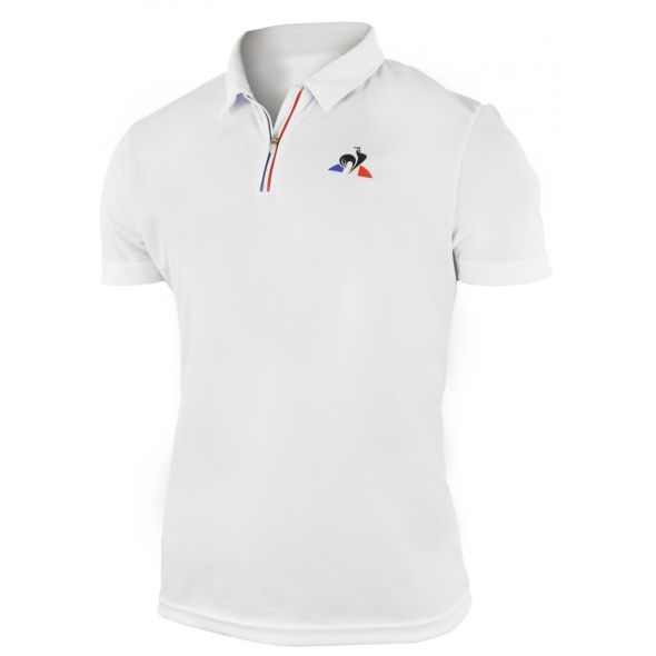 polo le coq sportif blanche