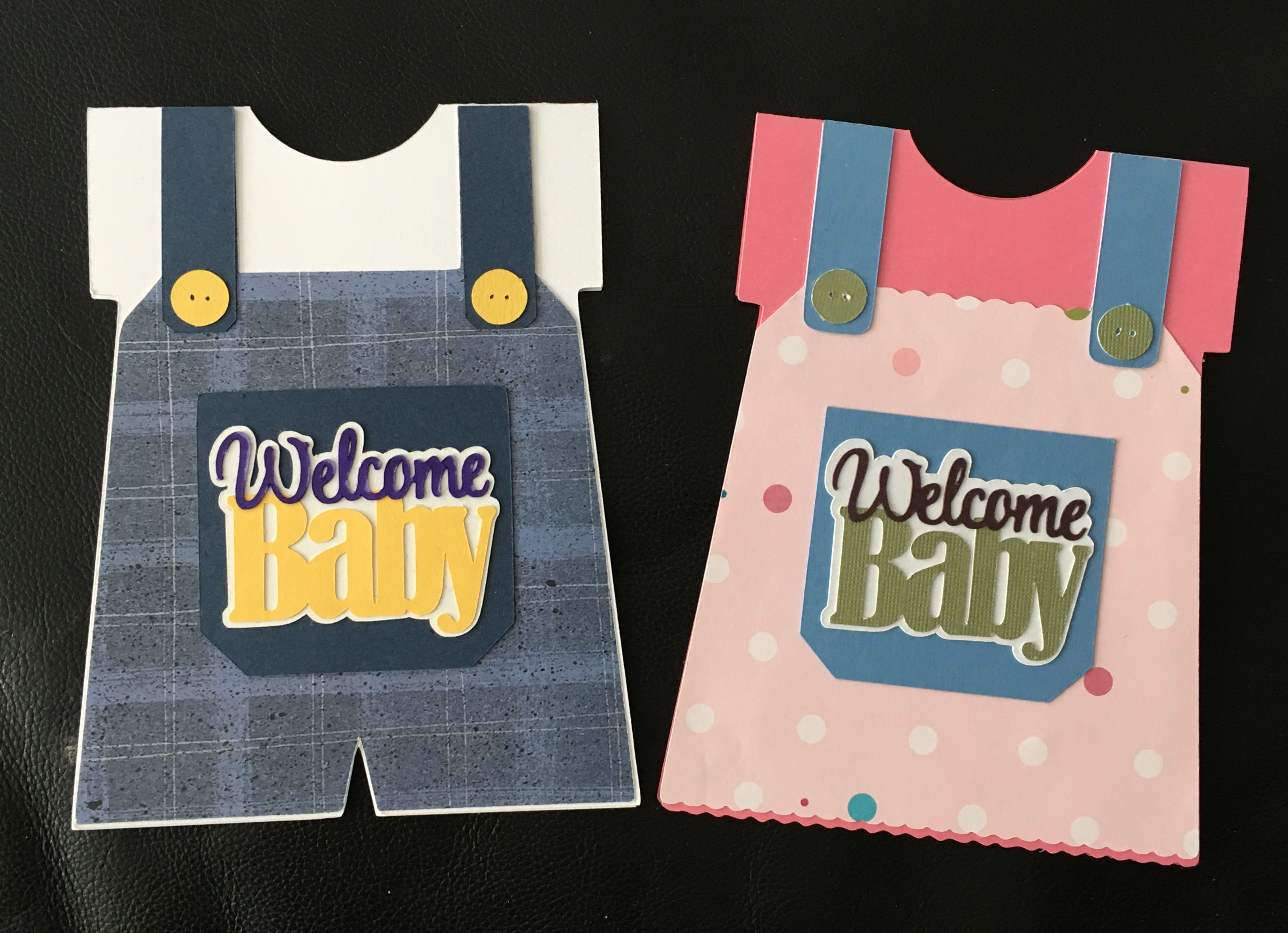 Welcome Baby Boy Girl Silhouette Cameo 3 Machine Greeting Card Set