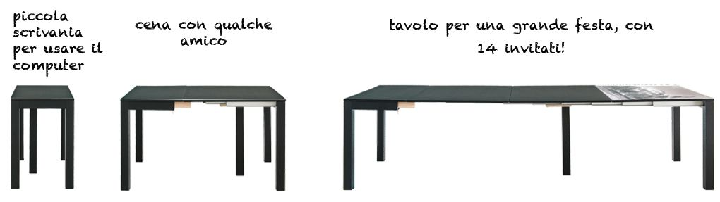 lg-lesmo.it - tavolo allungabile salvaspazio 50 x 100 h 78cm 12-14 persone
