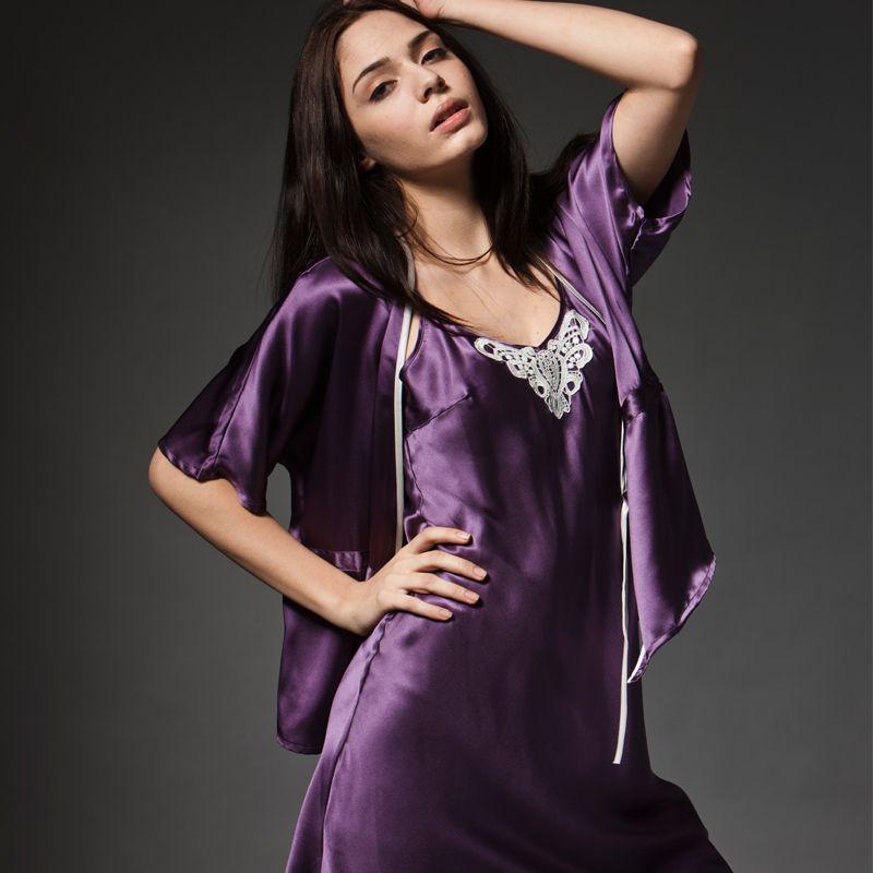 Sissy silk nightdress | Bedtime Wear | Pinterest | Sexy, Purple ...