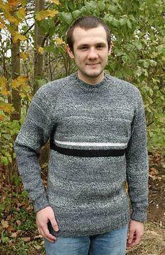 a8037559bab3 Men s Top Down Raglan Sweater pattern by Elaine Phillips
