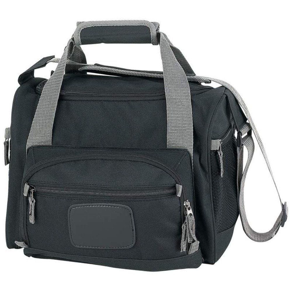 Extreme pak black cooler bag with zipout