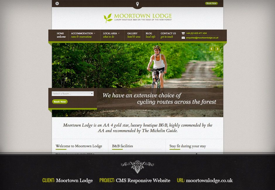 New Forest B&B responsive website