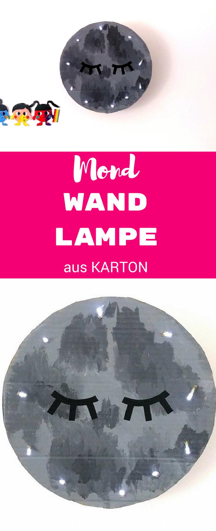 Mond Wandlampe für's Kinderzimmer, Kinderzimmer Ideen, moon crafts, Monstamoons, Basteln mit Karton,cardboard crafts