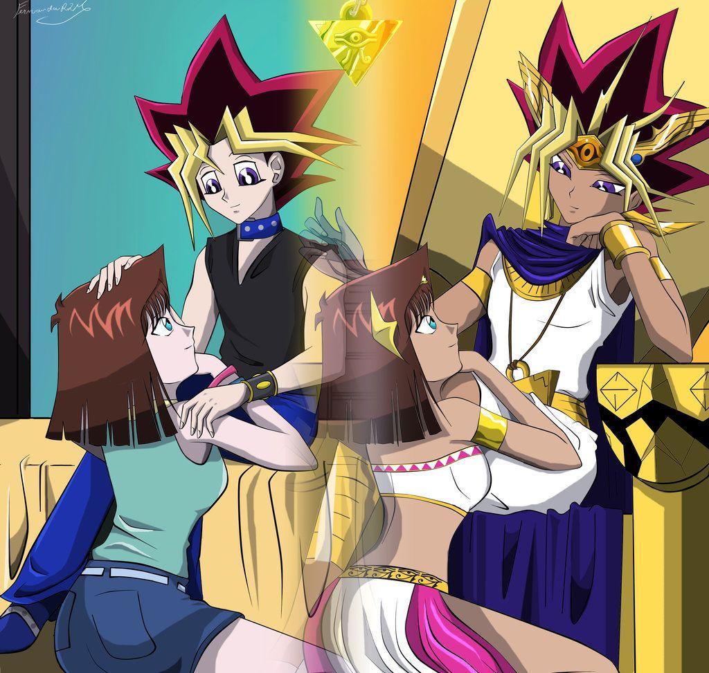 Yugi Anzu Atem By Ferrlm Deviantart Com On Deviantart Anime Characters Anime Anime Movies