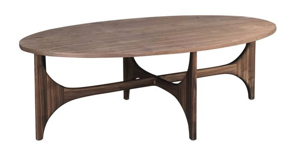 Custom Walnut Coffee Table With Oval Top Products In 2019