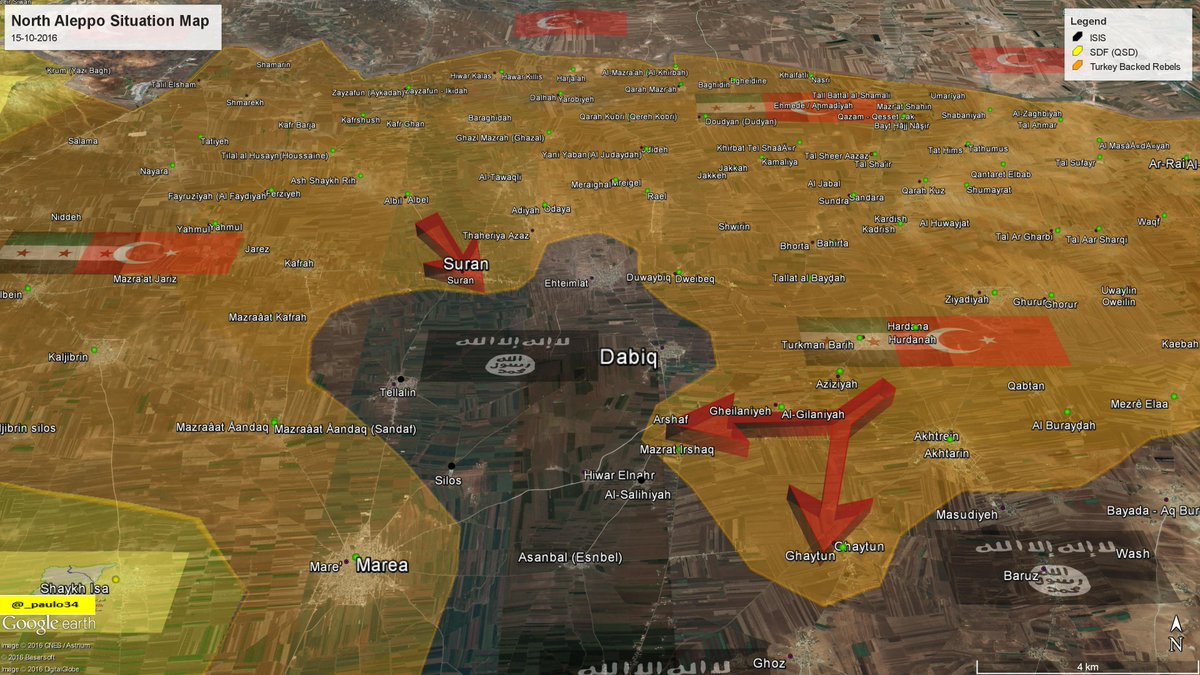 North Aleppo Situation Map 15 10 2016 Syria Rebels