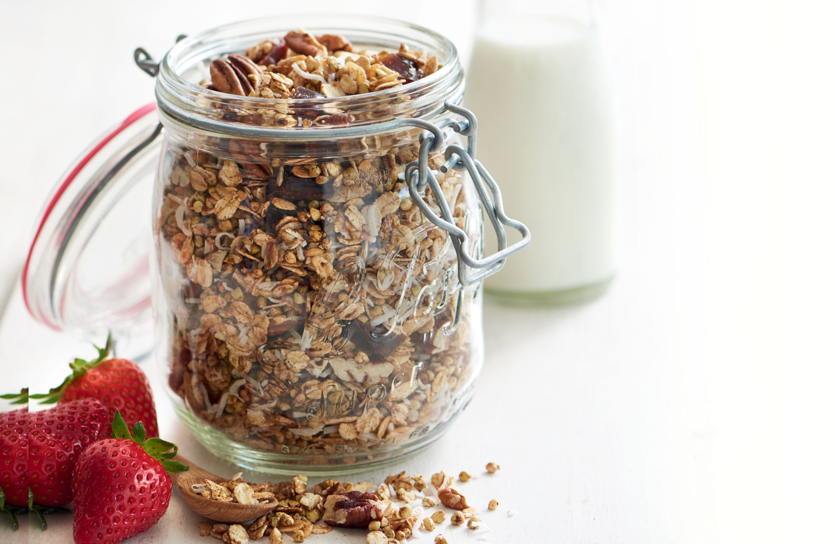 Buckwheat date coconut and pecan granola recipe