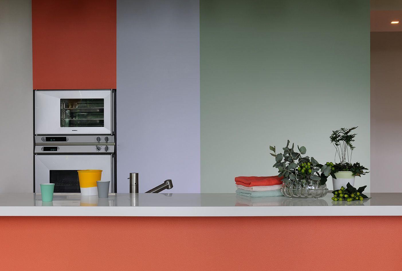 Associer Deux Teintes Comme Litchee Et Amandine A La Fois Pulpeuses Et Douces Pour Le Plus Delicieux Des Smoot Cuisine Verte Peinture Cuisine Inspiration Deco