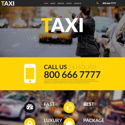 Taxi Responsive Moto CMS 3 Template | Plantas
