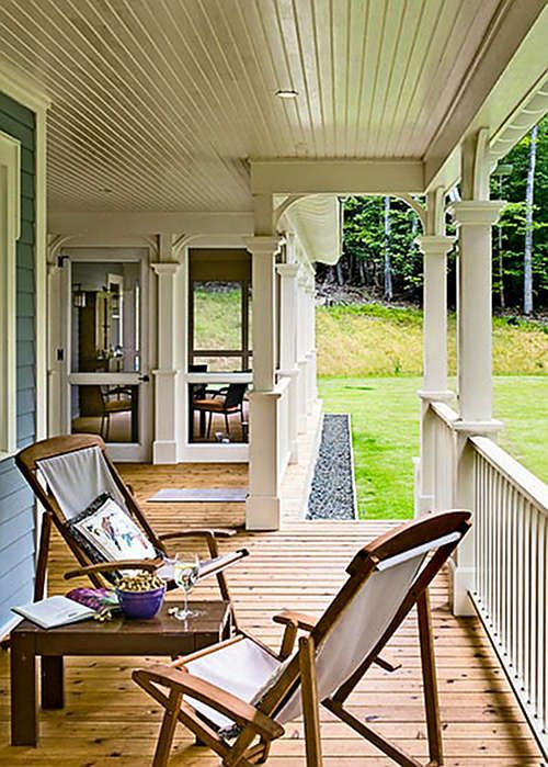 Crisp Architects Screened In Porch Detail House With Porch