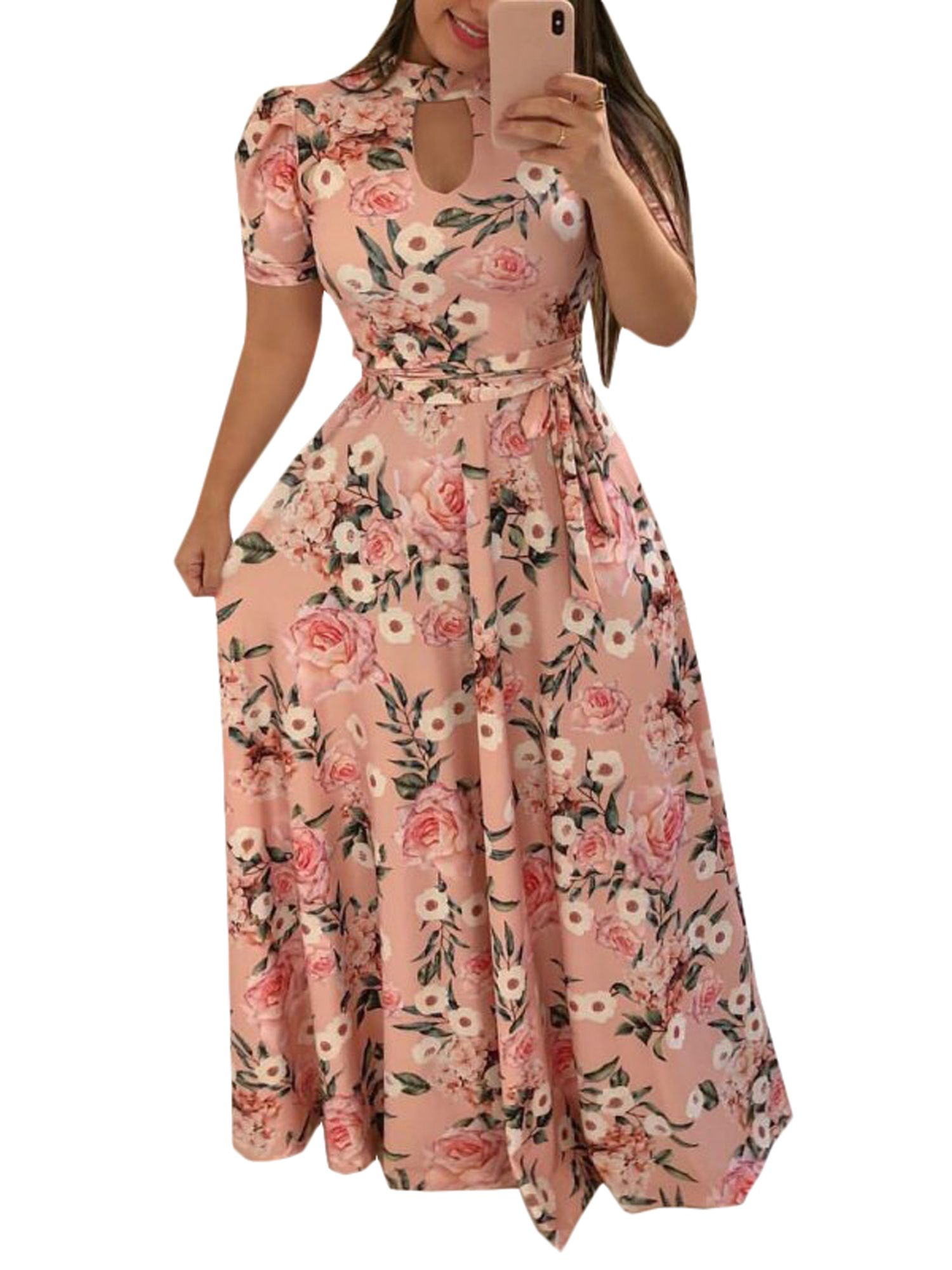 Lallc Women S Plus Size Boho Floral Short Sleeve Polka Dot Party Long Maxi Dress Walmart Com Vintage Long Dress Maxi Dress Boho Maxi Dress [ 2000 x 1500 Pixel ]