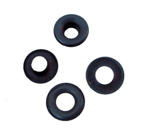 """1//4/"""" Hole Osborne 25 Sets Black Grommets /& Plain Washers #B1-0 C.S"""