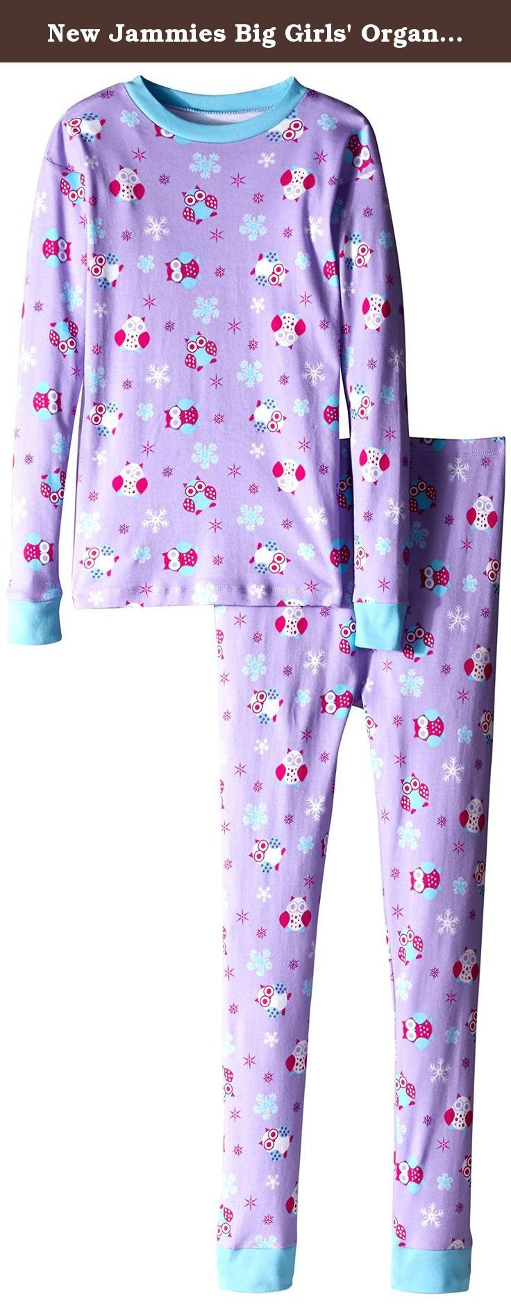 new jammies big girls' organic cotton snuggly pajamas snow owl   - new jammies big girls' organic cotton snuggly pajamas snow owl  our