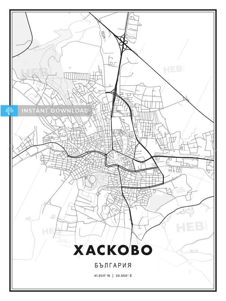 Haskovo Haskovo Bulgaria Modern Print Template In Various