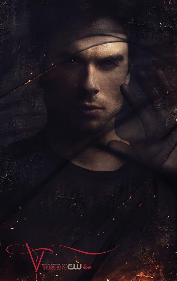 Posteres De Vampire Diaries Destacam Katherine E Damon Vampire