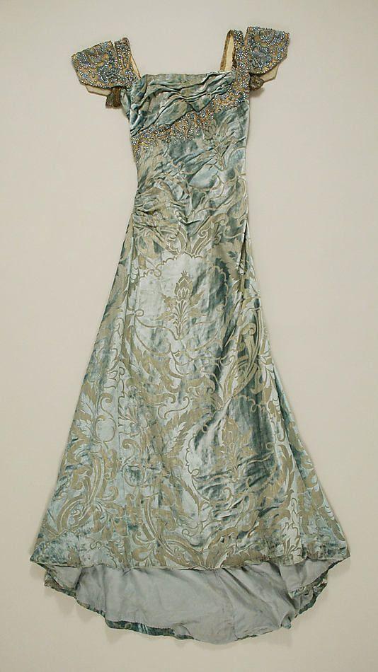 Silk evening sress circa 1910 - 1914