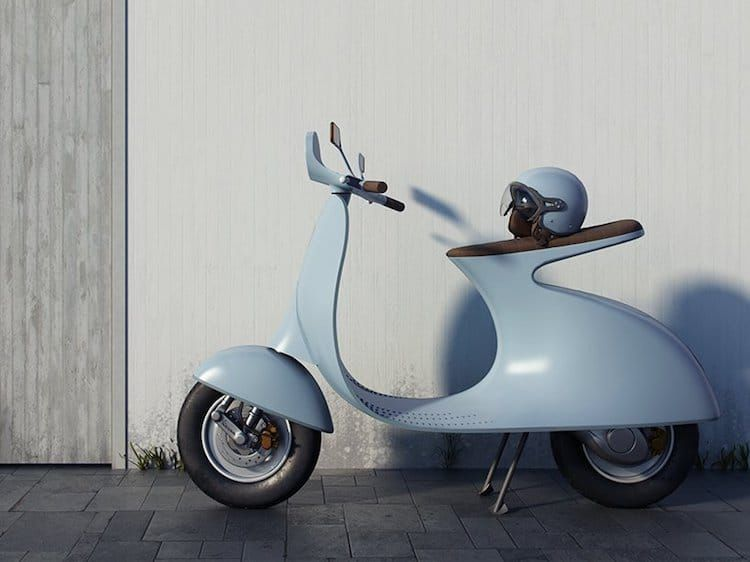 Vespa Electric Scooter >> Pin About Electric Vespa On Get Inspired