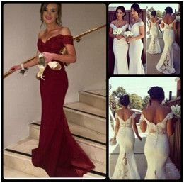 Wine Formal Bridesmaids Dresses 2016 Red