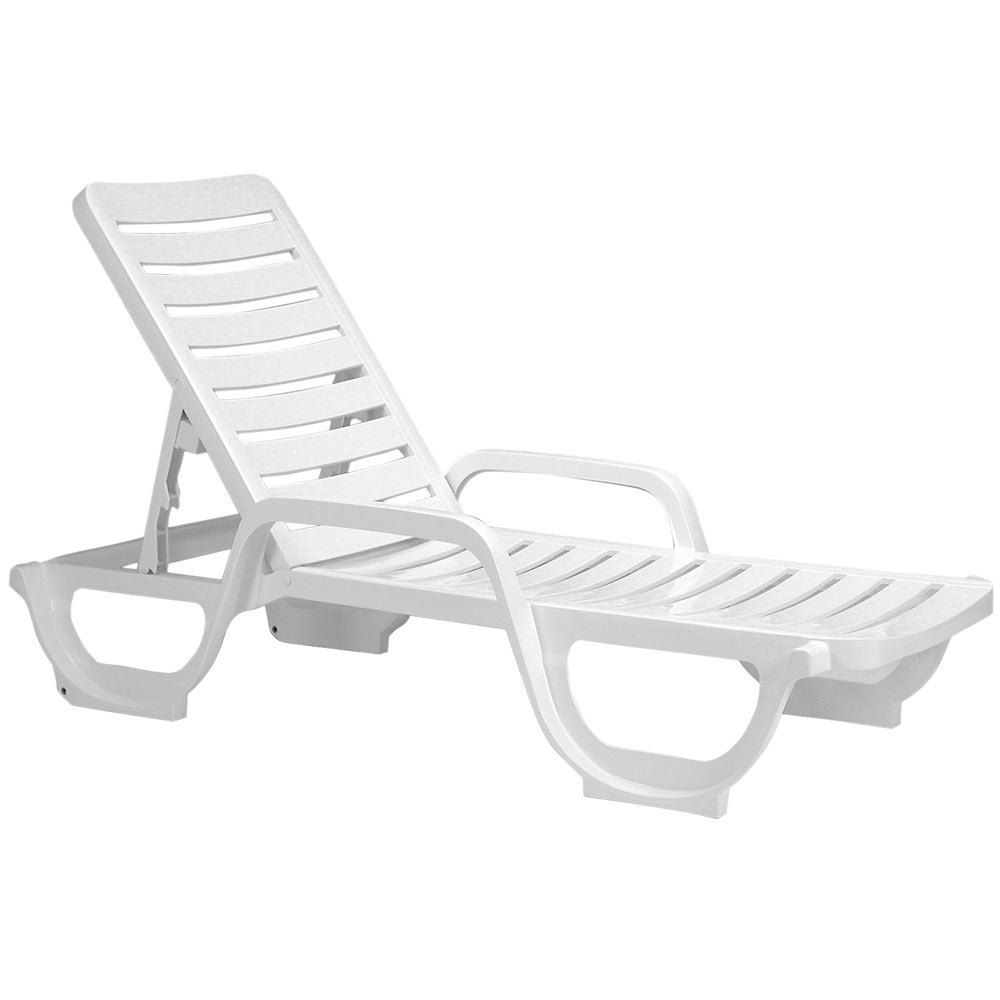 Grosfillex 44031104 / 44031004 Bahia White Stacking Adjustable Resin Chaise  sc 1 st  Pinterest : white resin chaise lounge - Sectionals, Sofas & Couches