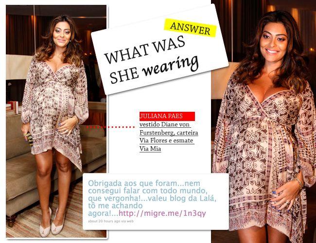 TÔ METIDA!!!! Rá rá rá! Juliana Paes agradeceu o blog no twitter!!! Tô me achando!!!! Não tinha como não amar esse modelito, certo? E todo mundo quer saber o que Ju estava vestindo! Trabalho para o…