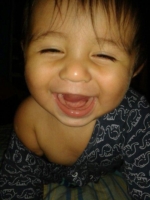 Mi gordito con sonrisa pícara