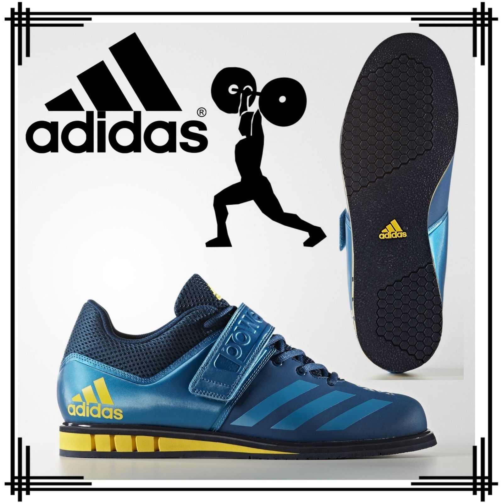 adidas Powerlift Mk 3.1 Weightlifting Shoes Mens Power Lifting Gym Trainers