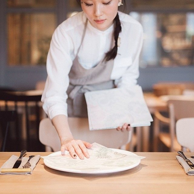 setting the table at the #KinfolkJapan Tokyo dinner (shot by @hamadahideaki at Slowhouse retail shop)