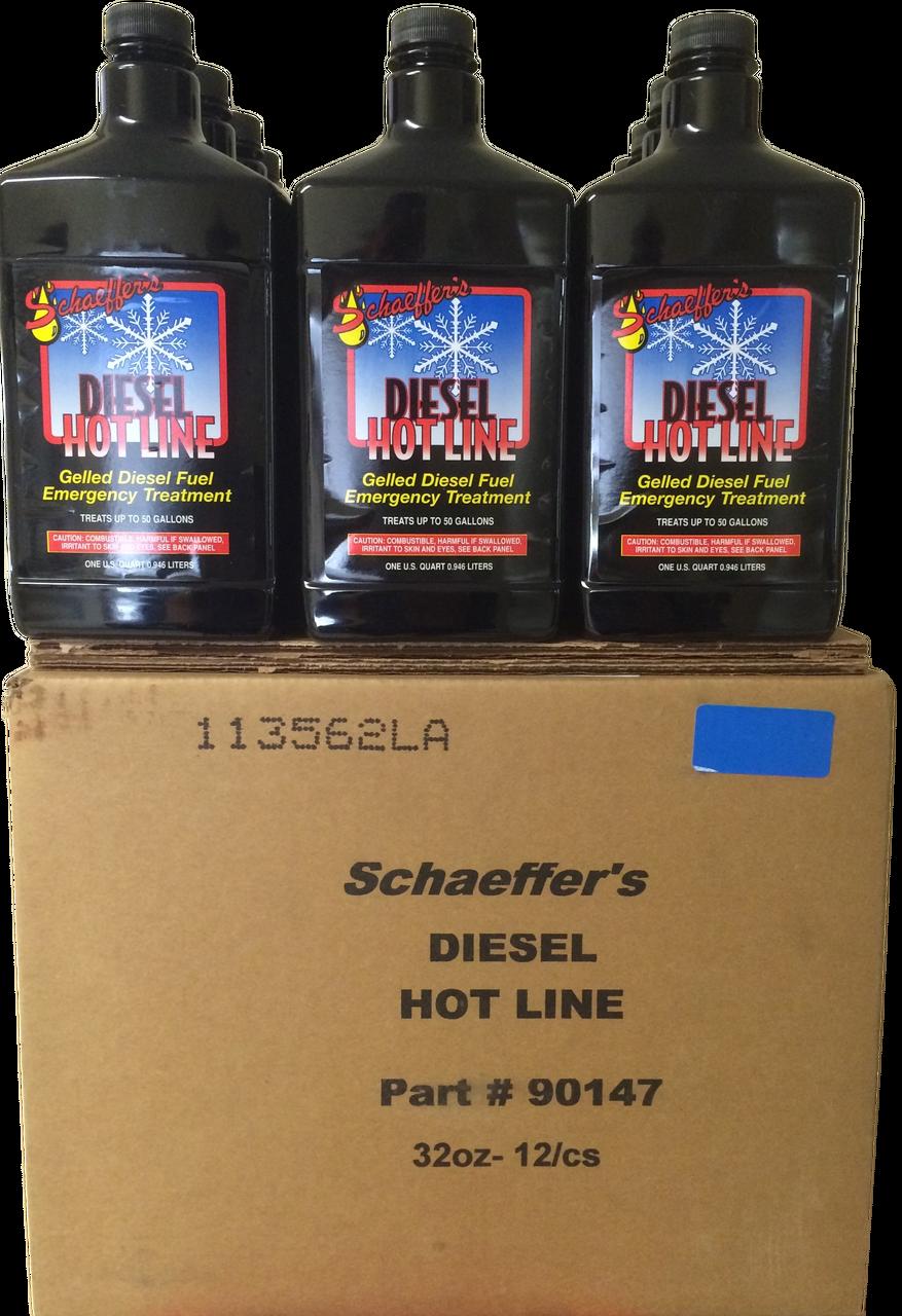 Schaeffer 284 Diesel Hot Line Fuel Additive 12 Quarts Fuel Additives Diesel Fuel Diesel
