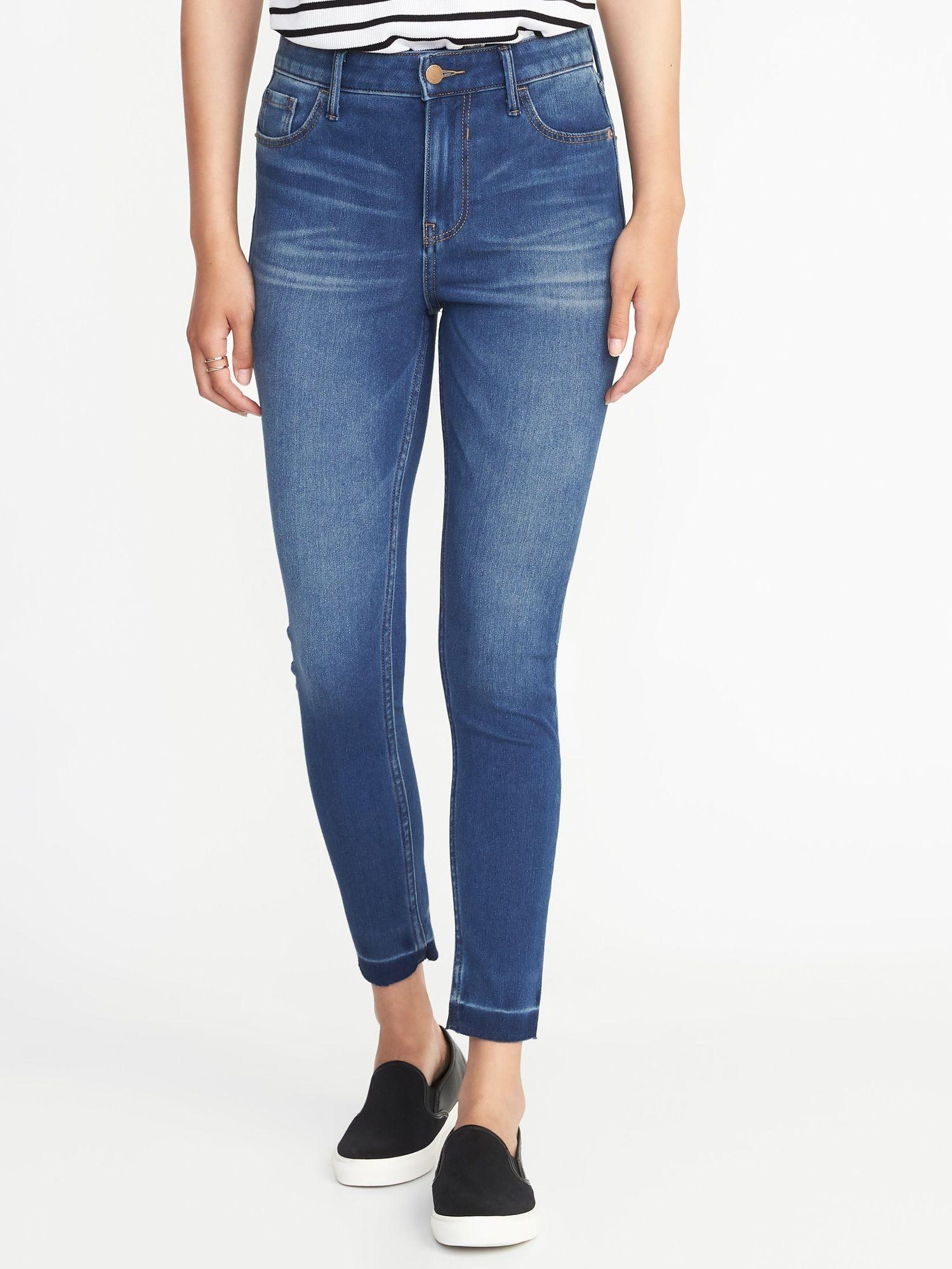95790eae52ac4 High-Rise Rockstar 24 7 Released-Hem Super Skinny Jeans for Women ...