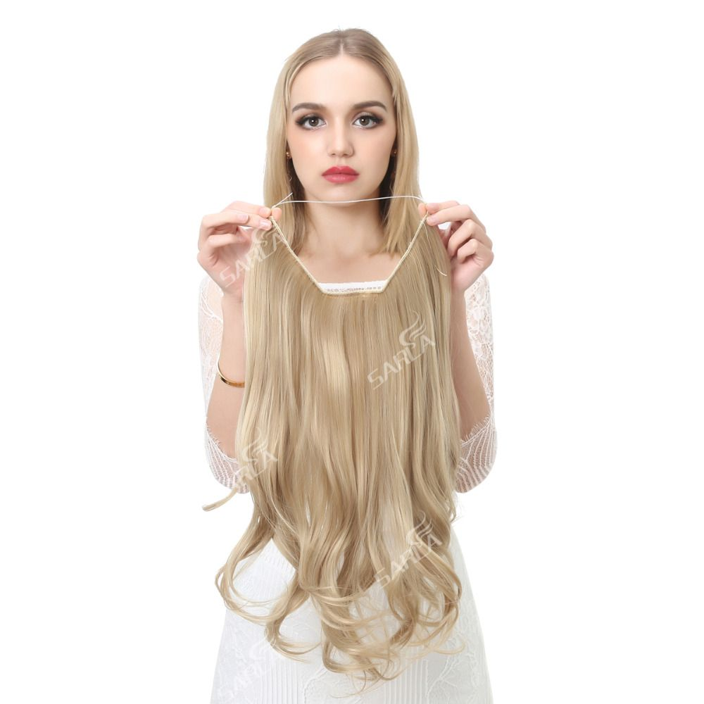 Sarla 20 Inch 50cm Wavy Hair Extensions Resist High Temperature