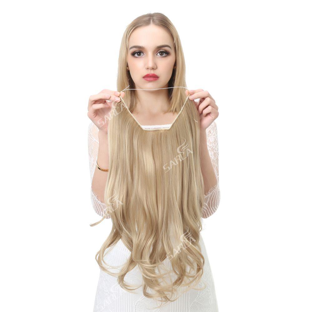 Sarla 20 Inch 50cm Wavy Hair Extensions Resist High Temperature