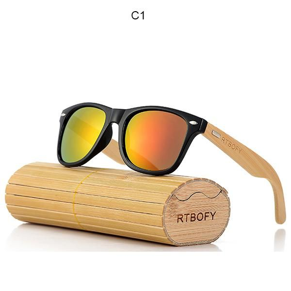 c333f2e29c205 Retro Bamboo Wood Sunglasses