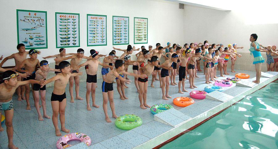 학생들속에서 수영보급 활발