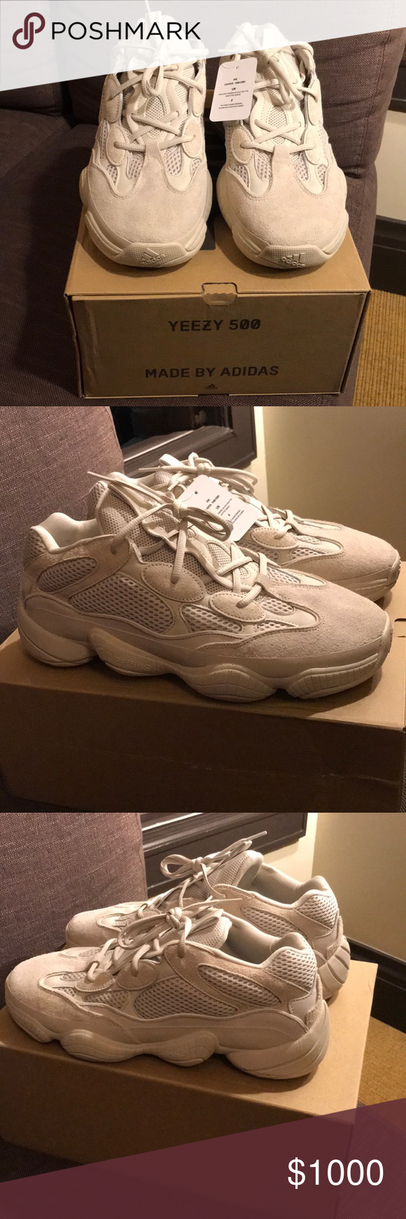 """377afcdd16d67 Adidas Yeezy 500 """"Blush"""" Deadstock and 100% authentic"""