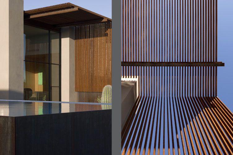 vallas corten steel barra de acero casa marrn estructuras de jardn diseo de jardines steel fence steel metal