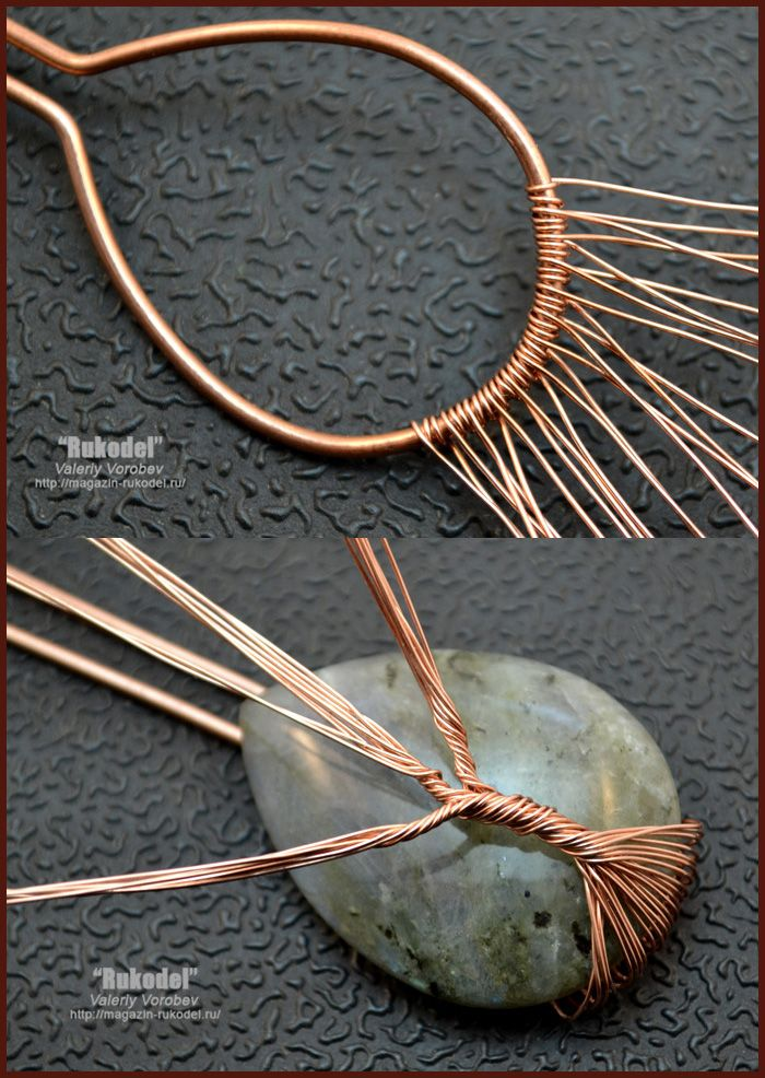 Handmade Tree of Life wire wrapped pendant - wire wrap tutorial.