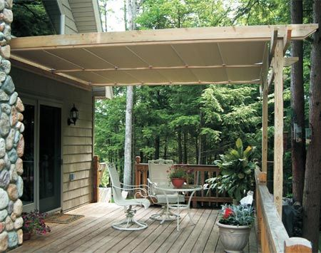 How to Shade Your Deck or Patio & How to Shade Your Deck or Patio with a DIY Awning | Deck canopy ...