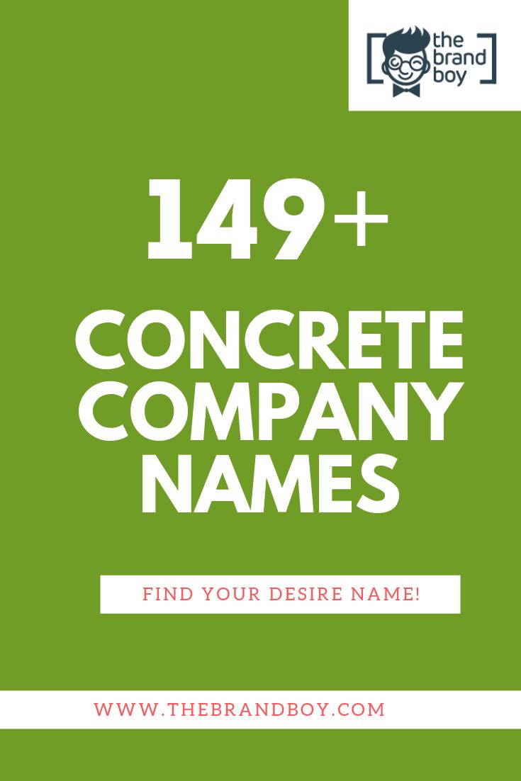 449 Good Concrete Company Name Ideas Ever Thebrandboy Com