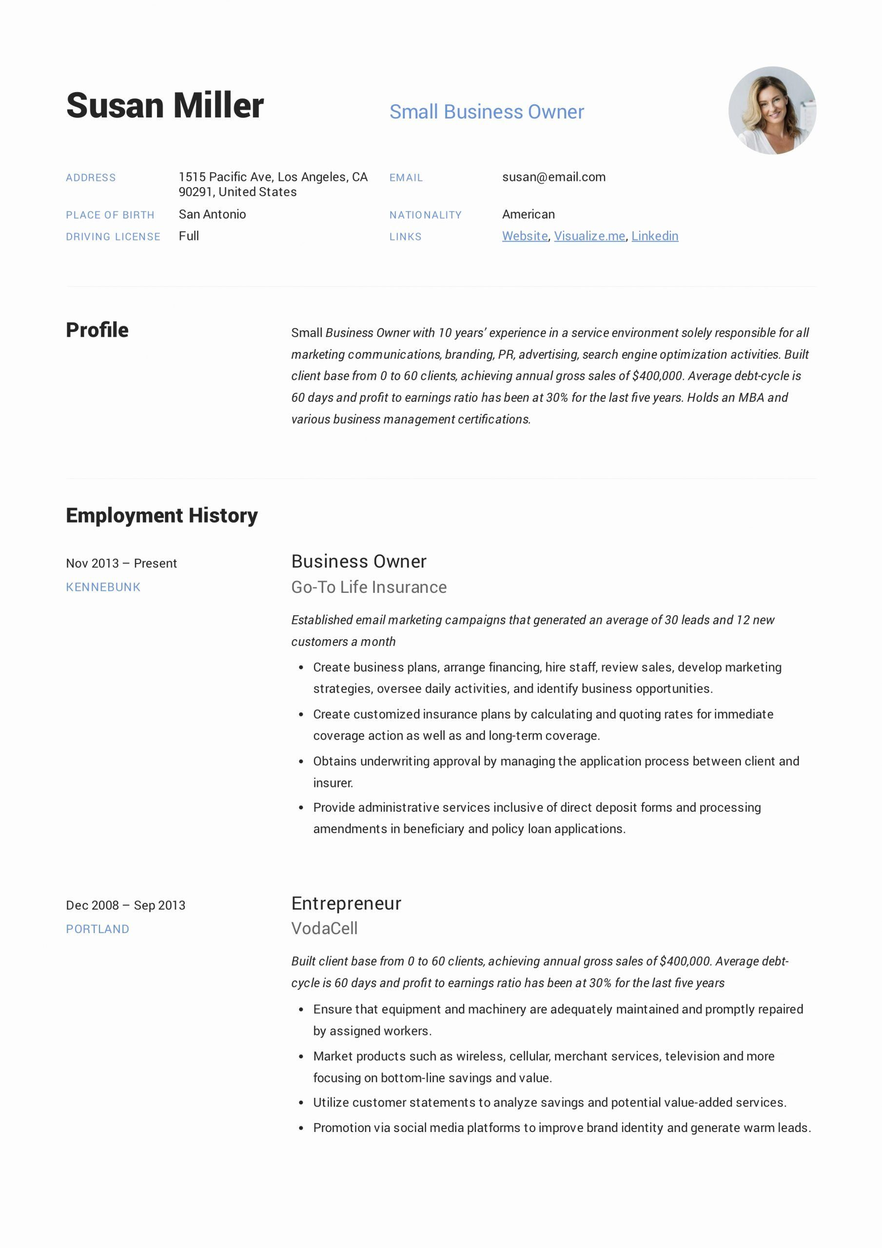 Resume For Small Business Owner Inspirational Small Business Owner Resume Guide 12 Examples Pdf In 2020 Resume Guide Resume Examples Job Resume Examples