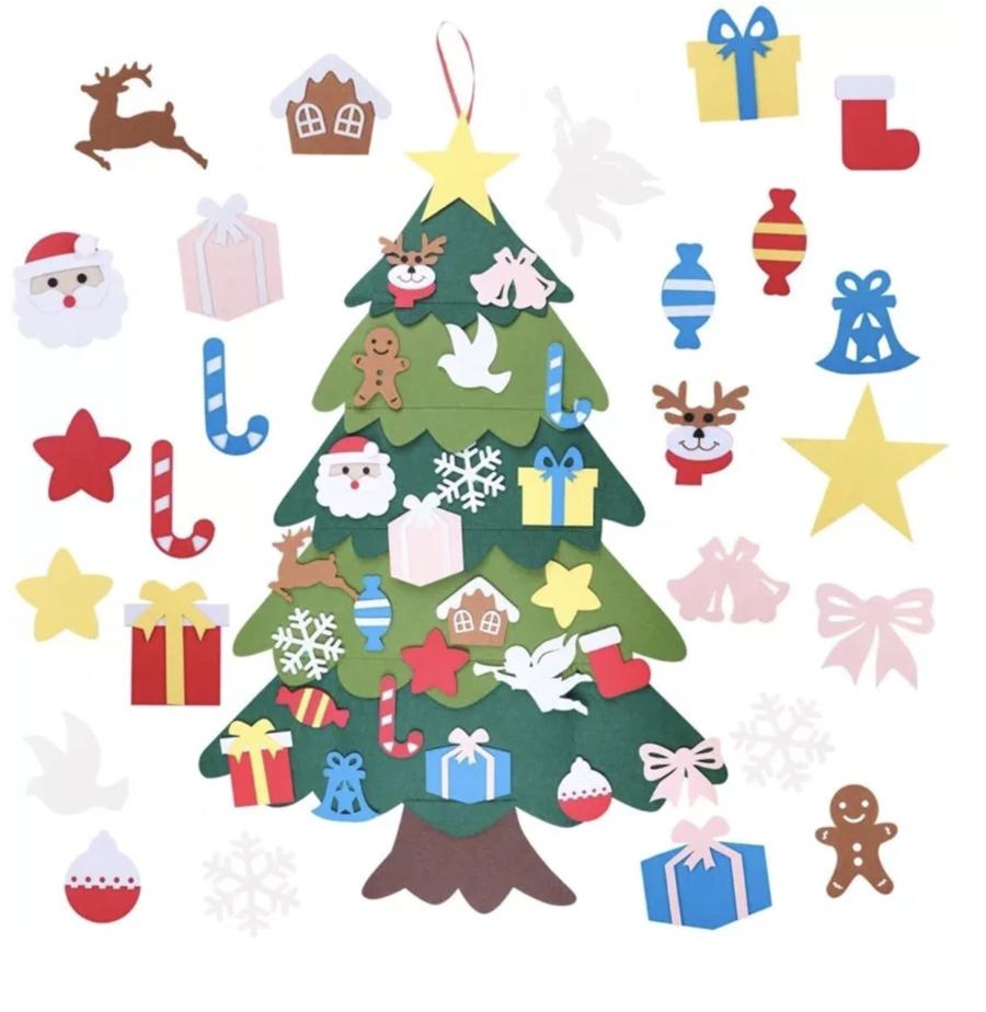 Diy Felt Tree Spare Ornaments Bundle Coolcoolly In 2020 Diy Felt Christmas Tree Felt Christmas Tree Felt Diy
