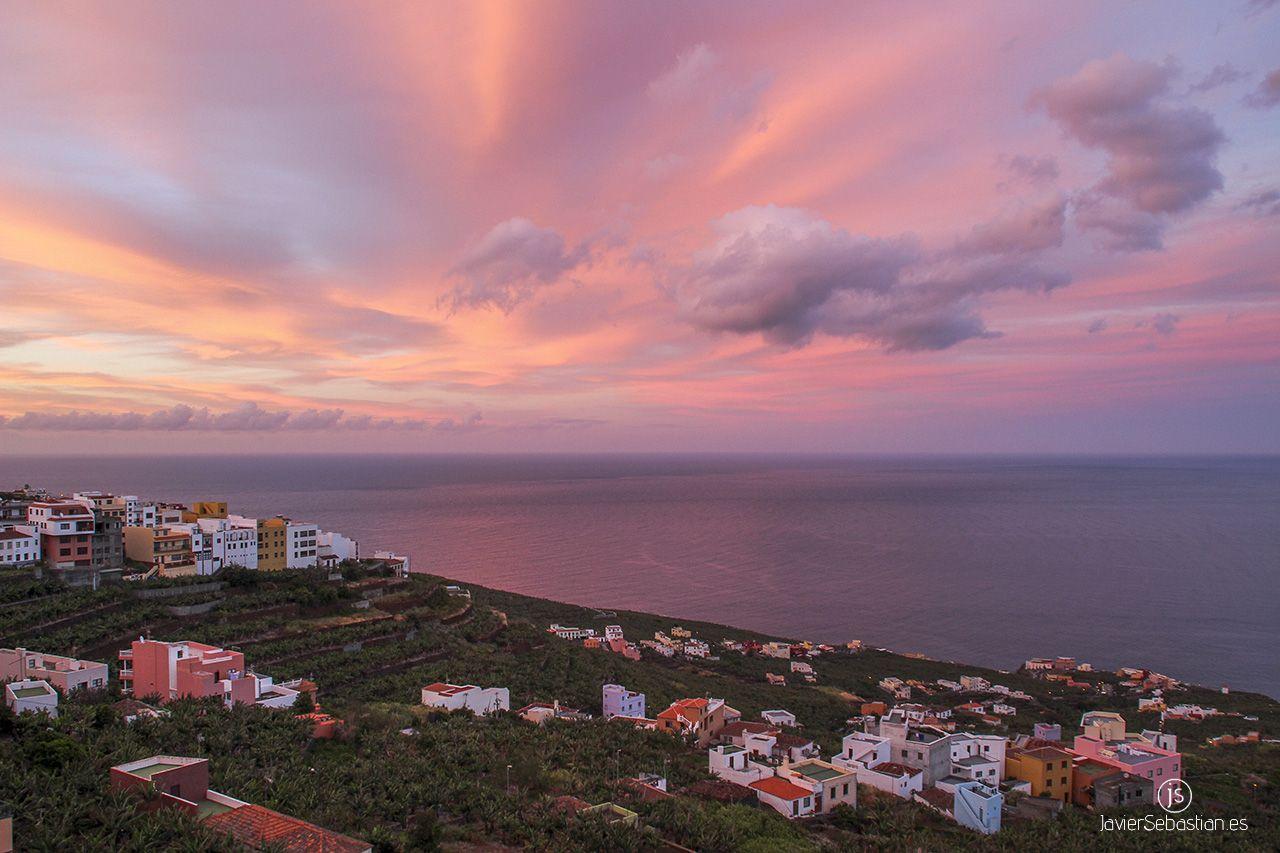 Atardecer San Andres y Sauces javiersebastian.es #lapalma #islascanarias #canaryislands #landscape