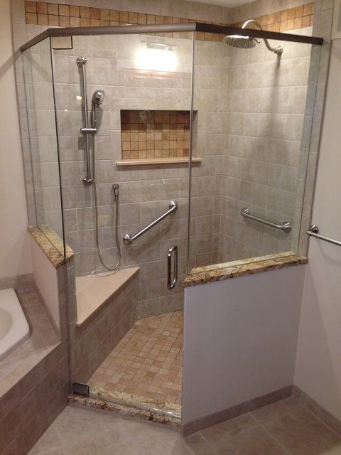 Neo Angle Shower Stalls With Half Walls Google Search